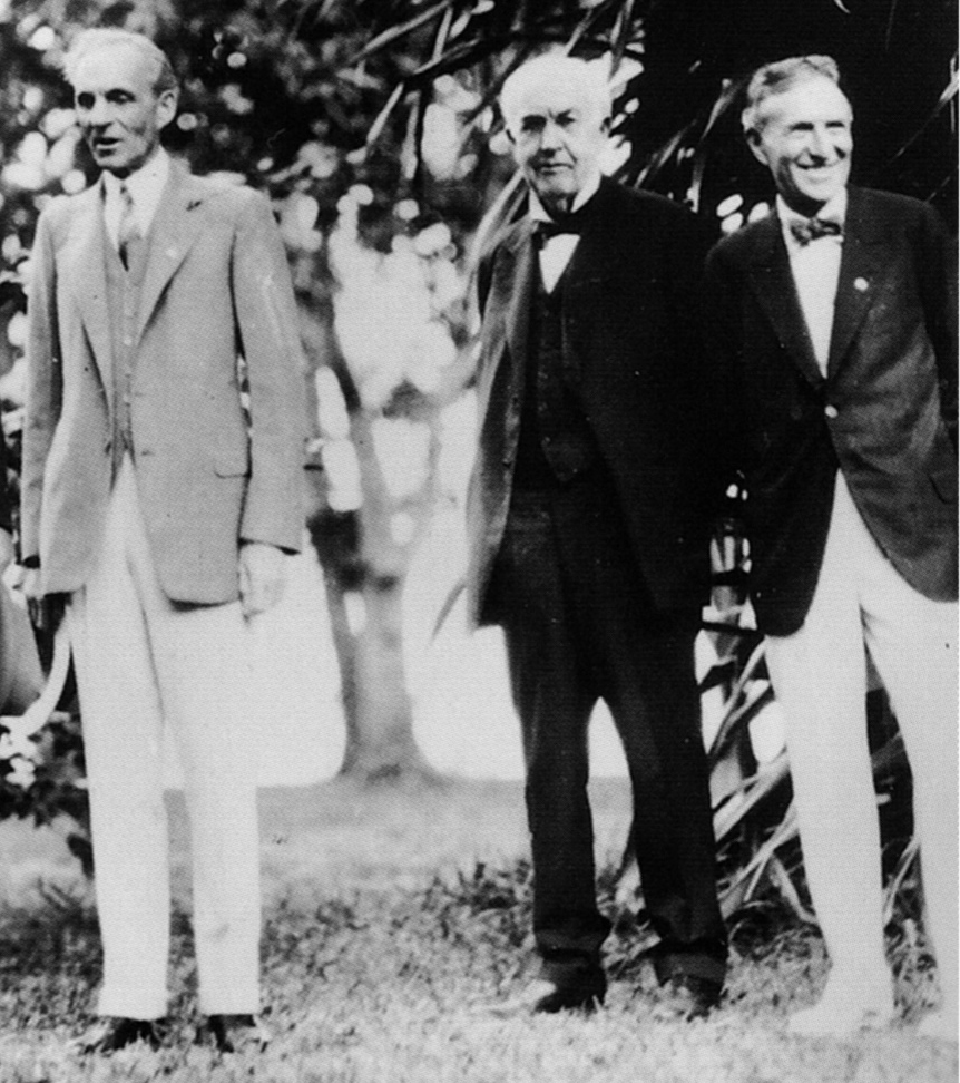Henry Ford with Thomas Edison and Harvey Firestone. Ft. Myers, Florida, February 11, 1929.